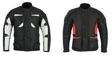 Mens Waterproof Motorbike Motorcycle Cordura  Long Jacket CE Armoured Textile