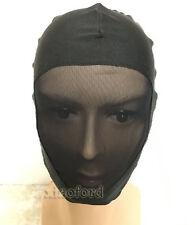 NEW Lycra Spandex zentai costume Black Mesh Mask/hood size S-XXL
