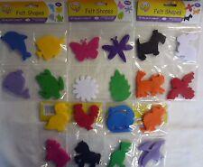 Easy Craft Pack of 16 Felt Shapes (Dinosaur, Farm, Pet, Garden, Sea)