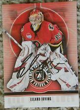 Calgary Flames Leland Irving Signed 08/09 ITG BTP Quad City Flames Card Auto