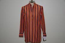 Ralph Lauren Black Label 100% Silk Striped Casual Shirt Top