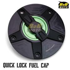 BLACK FCR 1/4 Quick Lock Gas Fuel Cap For Suzuki GSX-R 1000 08 09 10 11 12 13