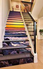 3D Twilight Waves 326 Risers Decoration Photo Mural Vinyl Decal Wallpaper CA