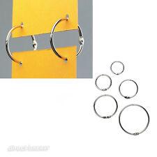 100 x Metal Nickel Split hanging Rings /sizes: 20 / 25 / 32 / 38 / 50mm Diameter