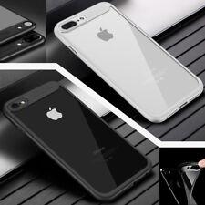 iPhone 8 Case Silikon Handy Hülle Schutz Cover Schale Schwarz & Weiß +Panzerglas