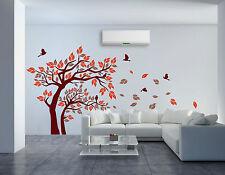 Jungle Tree BIRDS Removable Wall Art Stickers Kids Nursery Vinyl Decals Decor