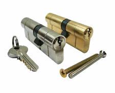 Standard Euro Lock Cylinder 6 pin. Brass - Chrome - Nickel. Three Keys or Thumb