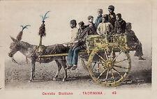 #TAORMINA: CARRETTO SICILIANO- 1910