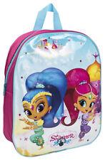 Shimmer and Shine Flashing Light Up Backpack LED Shoulder Travel School Bag Kids