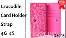 IPhone 4S 4 Galaxy HTC phone Card Organizer Purse Multi Pouch Case Cover Bag