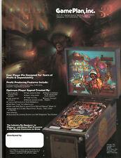 ATTILA the HUN Original Pinball Flyer GAME PLAN 1984