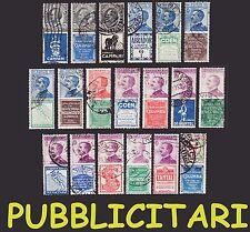 REGNO 1924 1925 Pubblicitari Annullati Emissione Pubblicitarie Pubblicitario