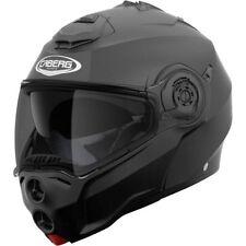 CABERG DROID MATT BLACK FLIP FRONT MODULAR MOTORCYCLE SAFETY CRASH HELMET