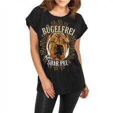 Frauen Damen lässiges Shirt Shar Pei - Bügelfrei hunderasse züchter welpen Dogs