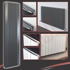 """Aluminium Designer """"Cariad"""" White & Anthracite, Vertical & Horizontal Radiators"""