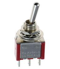 5 x ON-ON Mini Miniature Toggle Switch Car Dash SPDT UK Seller