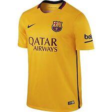 FC Barcelona Barca Men Nike University Gold Away Stadium Soccer Jersey NWT S-XXL