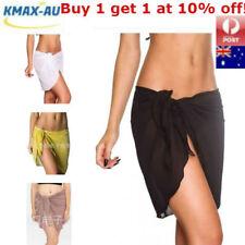 AU Women Beach Bikini Cover up Swim Skirt Short Wrap Sarong Beachwear Pareo