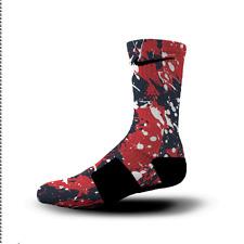 Custom Nike Elite Socks All Sizes NEW ENGLAND SPLATTER