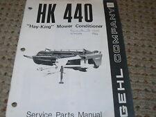 Gehl HK 440 Mower Conditioner Dealer's Parts Book