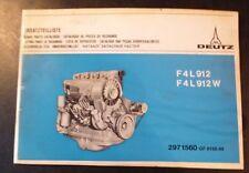 Deutz Motoren F4L 912 + F4L 912 W Ersatzteil-Katalog