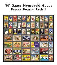 Model Railway Poster Advert Packs - N Gauge 2mm - Lots of Packs available