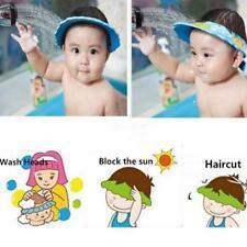 Soft & Adjustable Baby Shower Cap Children Shampoo Bath Wash Hair Shield Hat FW