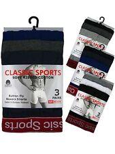 12 Hommes Classique Sport Coton Boxer Shorts Trunks Sous-vêtements/Rouge Taille