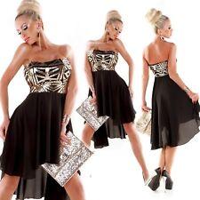 Atemberaubendes Silvester-Kleid im Bandeau-Style mit Glitzer-Pailletten
