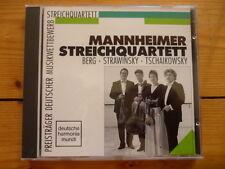Mannheimer Streichquartett BERG STRAWINSKY TCHAIKOVSKY Neu