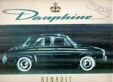 Renault Dauphine 1959-60 UK Market Sales Brochure