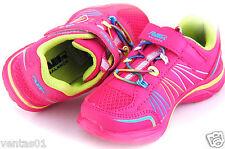 Girls Toddler Running tennis shoes fuchsia & Green Light Weigh