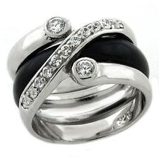 1218 2PCS nuevo Bisel Diamante Simulado De Banda Anillo de plata esterlina Estampado de $156