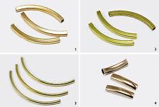 Röhrchen Metallröhrchen Röhre gebogen Verbinder Perlen Tube Zwischenperlen, S79