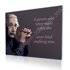 Albert Einstein Quotes #1 Mistake by Alonline DSN | Canvas (Rolled) | Wall art