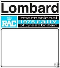 1975 LOMBARD RALLY DOOR BADGE- RACE NUMBER GRAPHIC