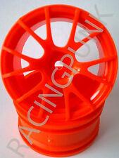 RC Auto 1/10 EP 26mm drift rim 3mm 6mm 9mm Offset Ruota Y F Arancione Fit Tamiya HPI