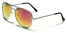 Unisex Mirrored Aviator Sunglasses w/ Free Case
