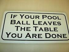 Funny Pool Metal Sign vintage billiard Ball Table Bar