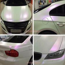 DIY Matte Entire Car Wrap Pearl White to Purple Chameleon Vinyl Film Sticker AB