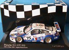 PORSCHE 911 GT3 RS #75 24H MANS 2004 SUGDEN KHAN SMITH MINICHAMPS 1/43 RACING