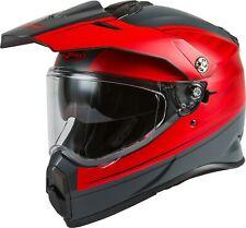 GMAX AT-21 Adventure Raley Dual Sport Helmet Matte Gray/Red