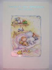 BELLISSIMO colorato in rilievo Sleeping Baby una nuova nipote greeting card