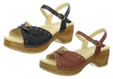 Sanita Women's Dawn Platform Heels Sandals - Black & Brown