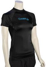 O'Neill Women's Basic Skins SS Rash Guard - Black - New
