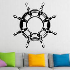 Ships Wheel Nautical Pirate Wall Sticker Decal Transfer Kids Home Matt Vinyl UK
