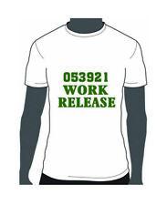 053921 Work Release Text DIY Vinyl Heat Transfer Iron on Sports Baseball T-Shirt