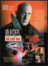 MURDER ON LINE ONE__Original 1990 Trade AD promo__SIMON SHEPHERD__Dikran Tulaine
