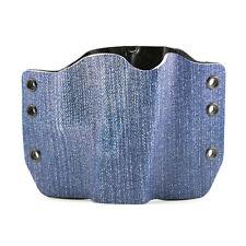 OWB Kydex Gun Holsters, Blue Jean for Glock Handguns