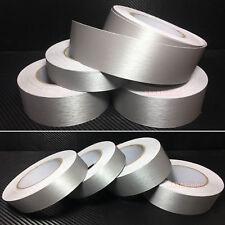 Decor - Silver Car House Metal Matte Brushed ALUMINUM Vinyl Wrap Sticker Tape AB